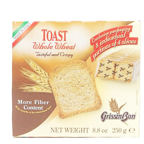 GrissinBon Whole Wheat Toast Rusks - 8.8oz (Pack of 4)
