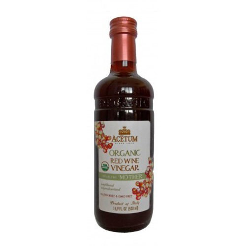 Acetum Organic Red Wine Vinegar with the 'Mother' - 16.9oz