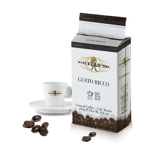 Miscela d'Oro Gusto Ricco Ground Coffee - 8.8oz (2 Pack)
