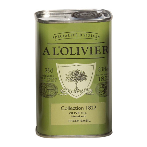 A L'Olivier Basil Infused Extra Virgin Olive Oil Tin - 8.3oz