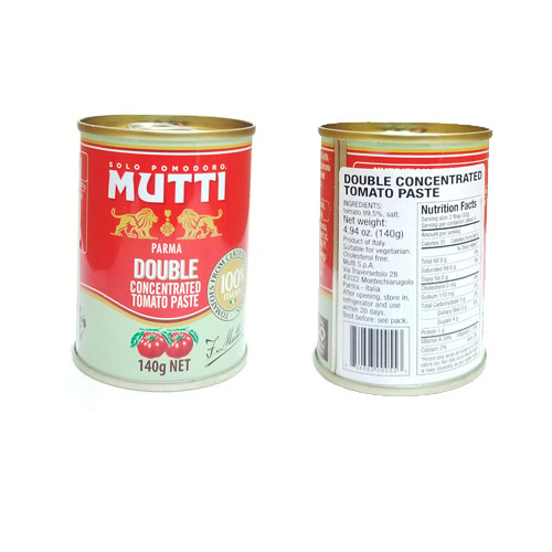 Mutti Parma Double Concentrated Tomato Paste - 140g (Pack of 6)