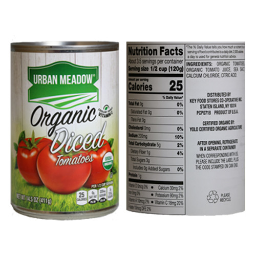 Urban Meadow Organic Diced Tomatoes - 14.5oz
