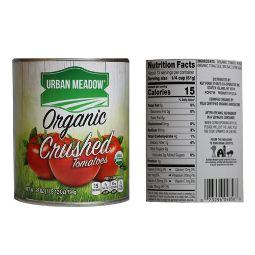 Urban Meadow Organic Crushed Tomatoes - 28oz