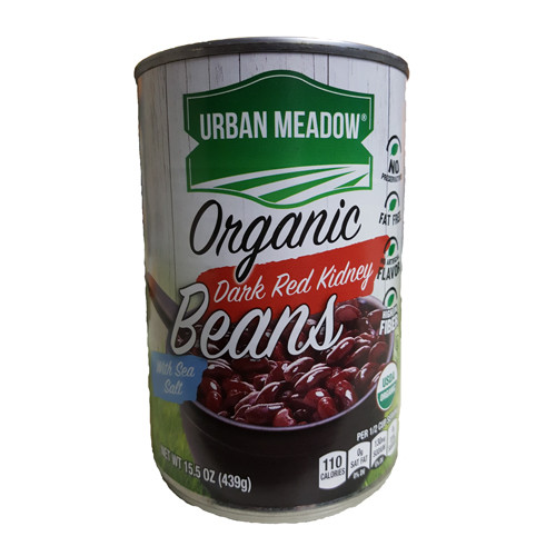 Urban Meadow Organic Dark Red Kidney Beans - 15.5oz