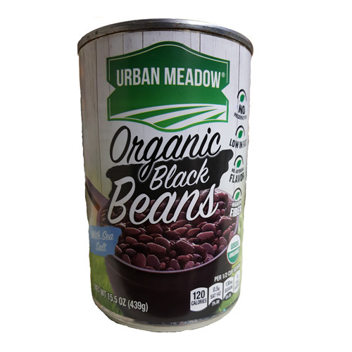 Urban Meadow Organic Black Beans - 15.5oz