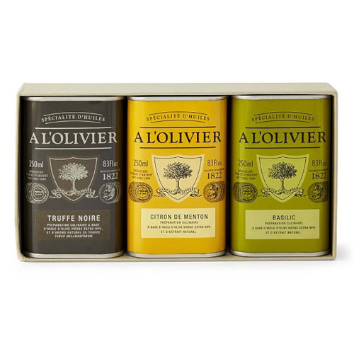 A L'Olivier 3 Pack Gift Set (Black Truffle, Lemon, Basil)