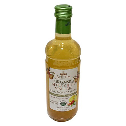Acetum Organic Apple Cider Vinegar with Lemon & Cayenne - 16.9oz