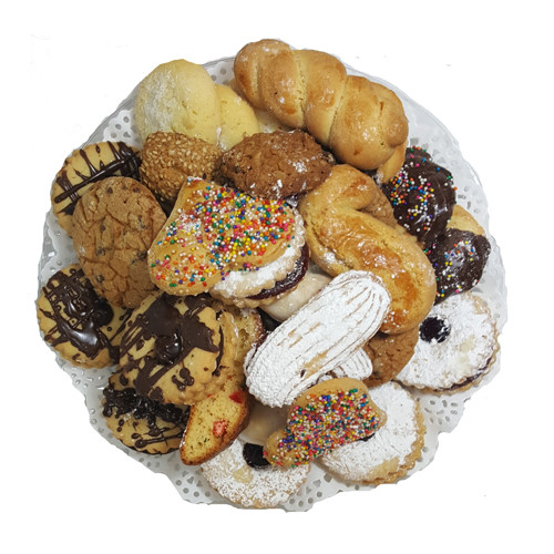 Italian Style Assorted Cookies on Tray - 2lbs