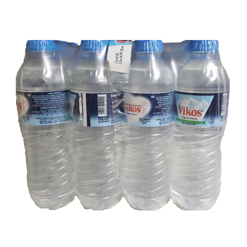 Vikos Natural Spring Water Imported From Greece - 16.91oz (12 Pack)