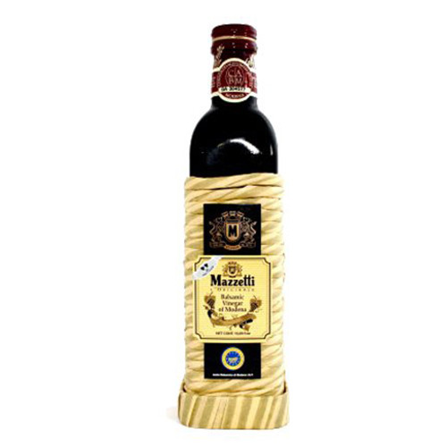 Mazzetti Balsamic Vinegar - 2 leaf Rating - Rattan Wrapped Bottle - 17oz