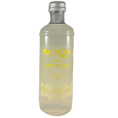 MASTIQUA GREEK LEMONADA MASTIHA FLAVORED SPARKLING WATER - 6 BOTTLES - 11 OZ. EACH