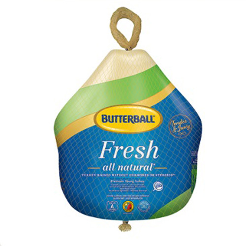 Butterball All Natural Whole Turkey 22 to 24 lb avg