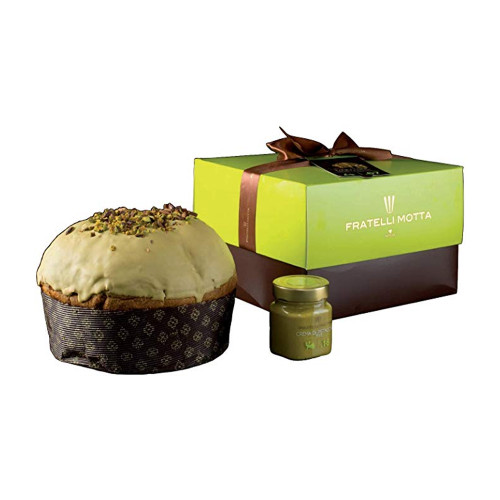 Fratelli Motta Sicilian Panettone with Pistachio Cream Jar 1.7 lb
