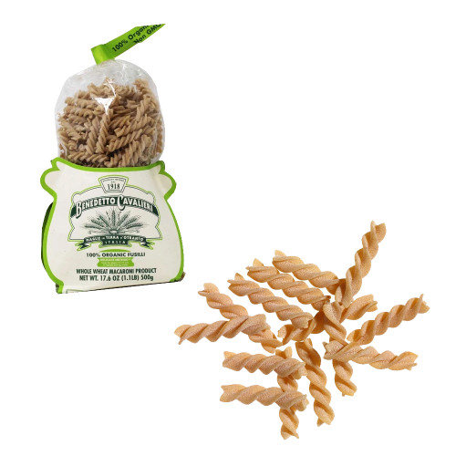 Benedetto Cavalieri 100% Organic Whole Wheat Fusilli Pasta 17.6 oz