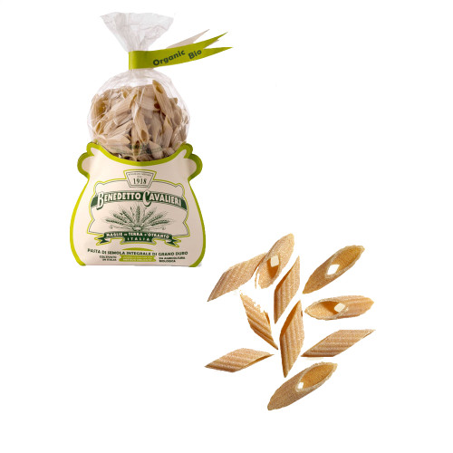 Benedetto Cavalieri 100% Organic Whole Wheat Pennucce Pasta 17.6 oz