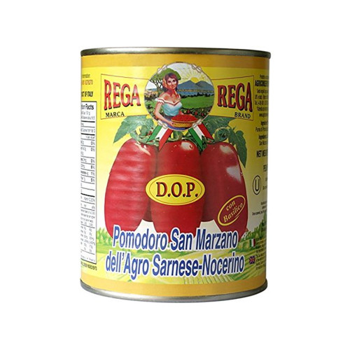 Rega Marca Whole Peeled  San Marzano D.O.P Tomatoes 18 oz ( 520 g )