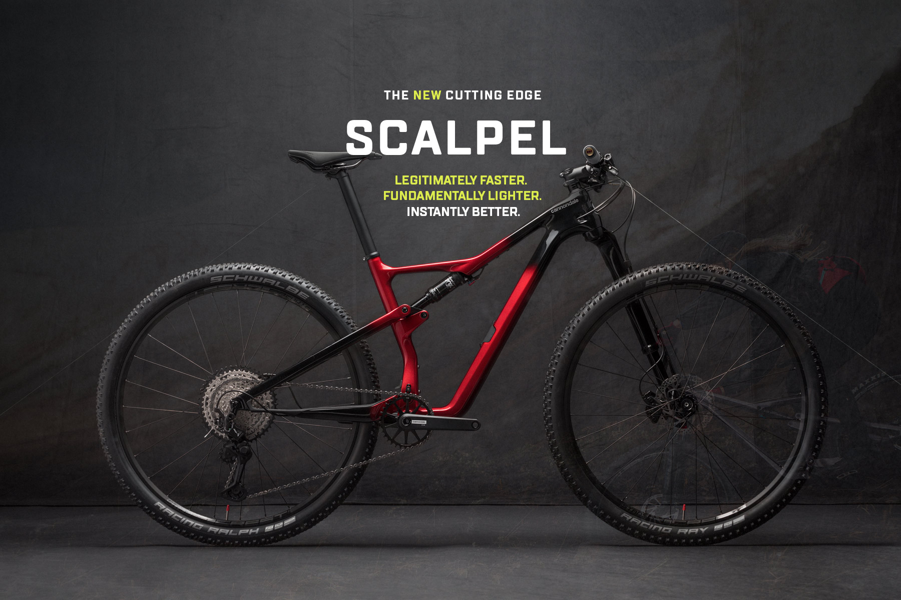 Cannondale Scalpel in black and red fade