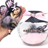Pink and Black Large Fairy  optional Jar
