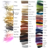 Choice of hair colours, please note if fringe is needed we recommend using straight hair than curly.