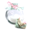 Green and pink Unicorn Jar with plait detail