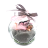 Medium Fairy Jar Laying on front  Pink and Grey