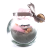 Small Fairy Jar Laying down Pink and Grey Jar