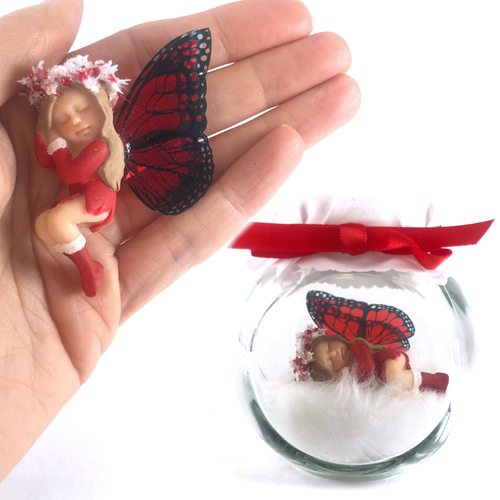 Christmas Starter Fairy red dress and white garland