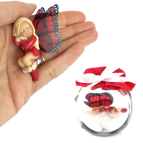 NOELLE Fairy Charm Jar Choice of hair colours & collectors bead