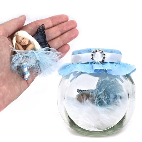 Princess Fairy Jar Blue Medium