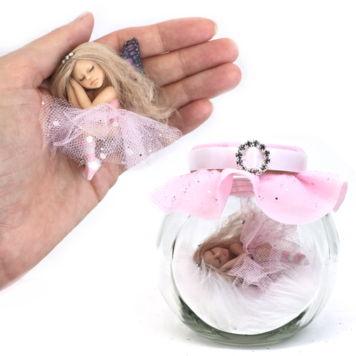 Princess Fairy Jar pink Medium