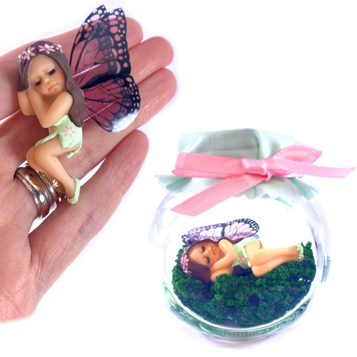 Starter Fairy Green with pink flowers
