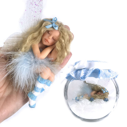 Pretty in Blue Fairy optional Jar Large