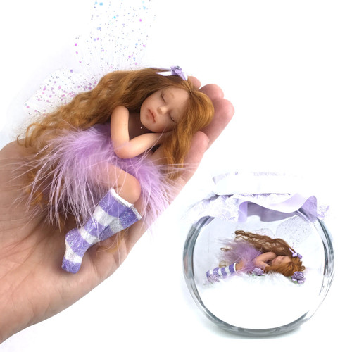 Pretty in Lilac Fairy optional Jar Large