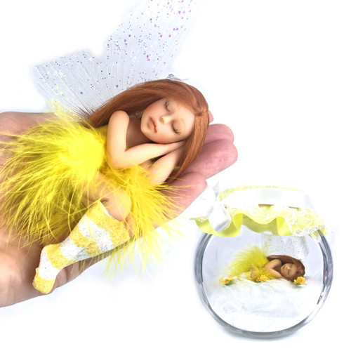 Pretty in Yellow Fairy optional Jar Large