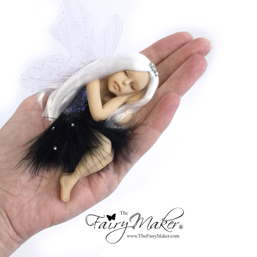 Classic Black and silver Fairy optional  Jar Large