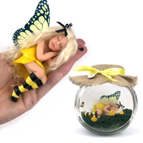 Bumble Bee Large Fairy optional Jar