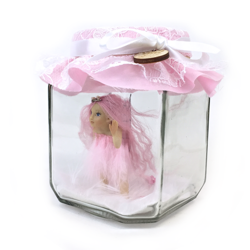 Pretty in Pink willow Fairy Jar