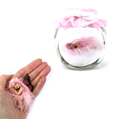 Pretty in Pink Fairy Jar Medium