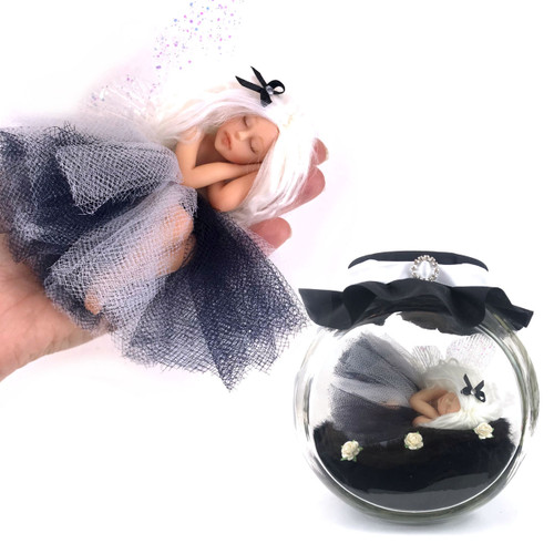 Black and white Large Fairy optional jar