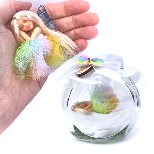 Rainbow Fairy Jar Medium Pastel tutu