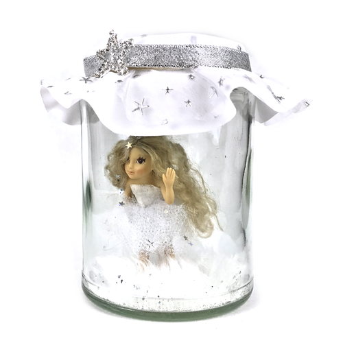 Silver star willow Fairy Jar