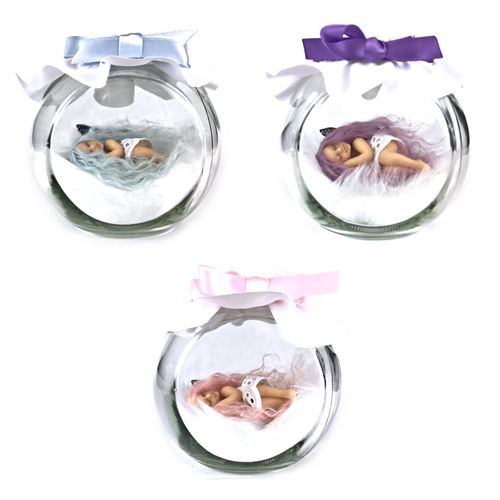 LIMITED EDITION Pastel Haired Medium Fairy Jar  Pink/Blue/Purple