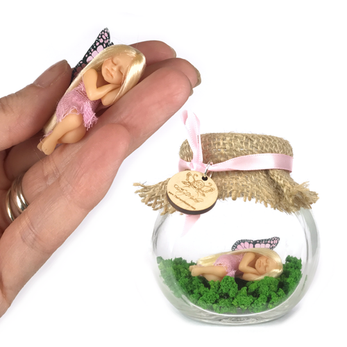 Pink Enchanted garden small Fairy Jar *optional tooth fairy bottle
