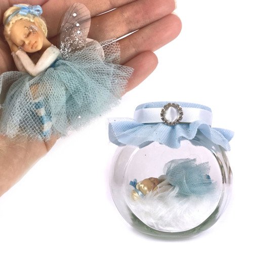 Princess bun  Fairy blue   Medium Fairy Jar