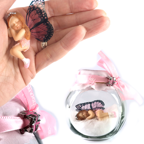 BIRTHDAY GIRL Fairy Charm Jar Choice of hair colours & collectors bead
