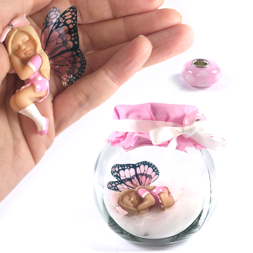 CHLOE Fairy Charm Jar Choice of hair colours & collectors bead