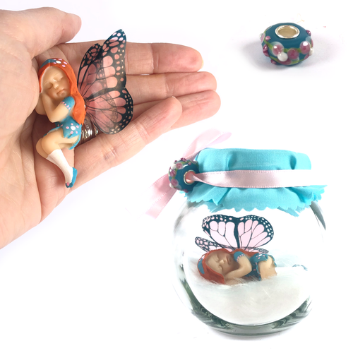 EMILY Fairy Charm Jar Choice of hair colours & collectors bead