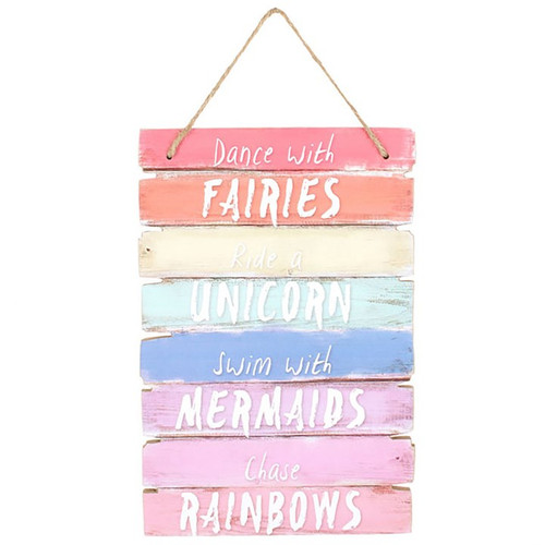 Dance with Fairies wooden sign plaque