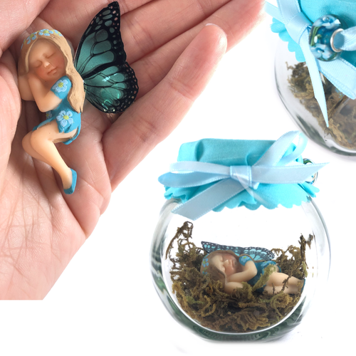 OLIVIA Fairy Charm Jar Choice of hair colours & collectors bead