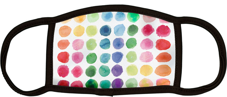 Watercolor Dots Face Mask- Child